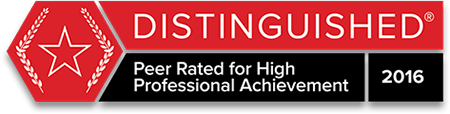 Martindale-Hubbell Distinguished Peer Rating 2016