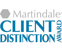 Martindale Client Distinction Award for Laurie Saltzgiver