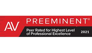Martindale-Hubbell AV Preeminent Peer Rating 2021