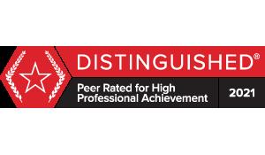 Martindale-Hubbell BV Distinguished Peer Rating 2021 - Laurie Saltzgiver
